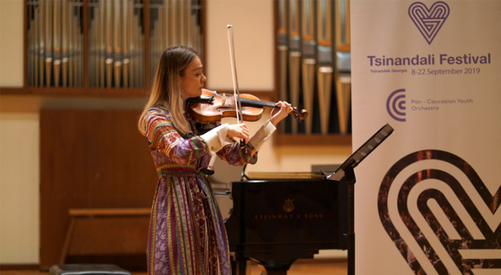 Tsinandali Festival Co-founder Yerkin Tatishev Impressed by Talented Musicians Auditioning for a Chance to Perform in Regional Youth Orchestra